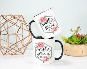 Mother of the Bride and Mother of the Groom Mug Set, Wedding Mug Set, Mother of the Bride Mug, Mother of the Groom Mug, Rose Gold Rebel