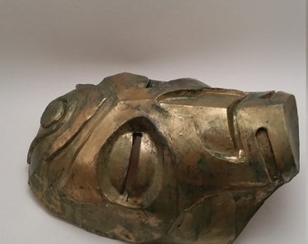Dragon Priest Mask Krosis (aged bronze)