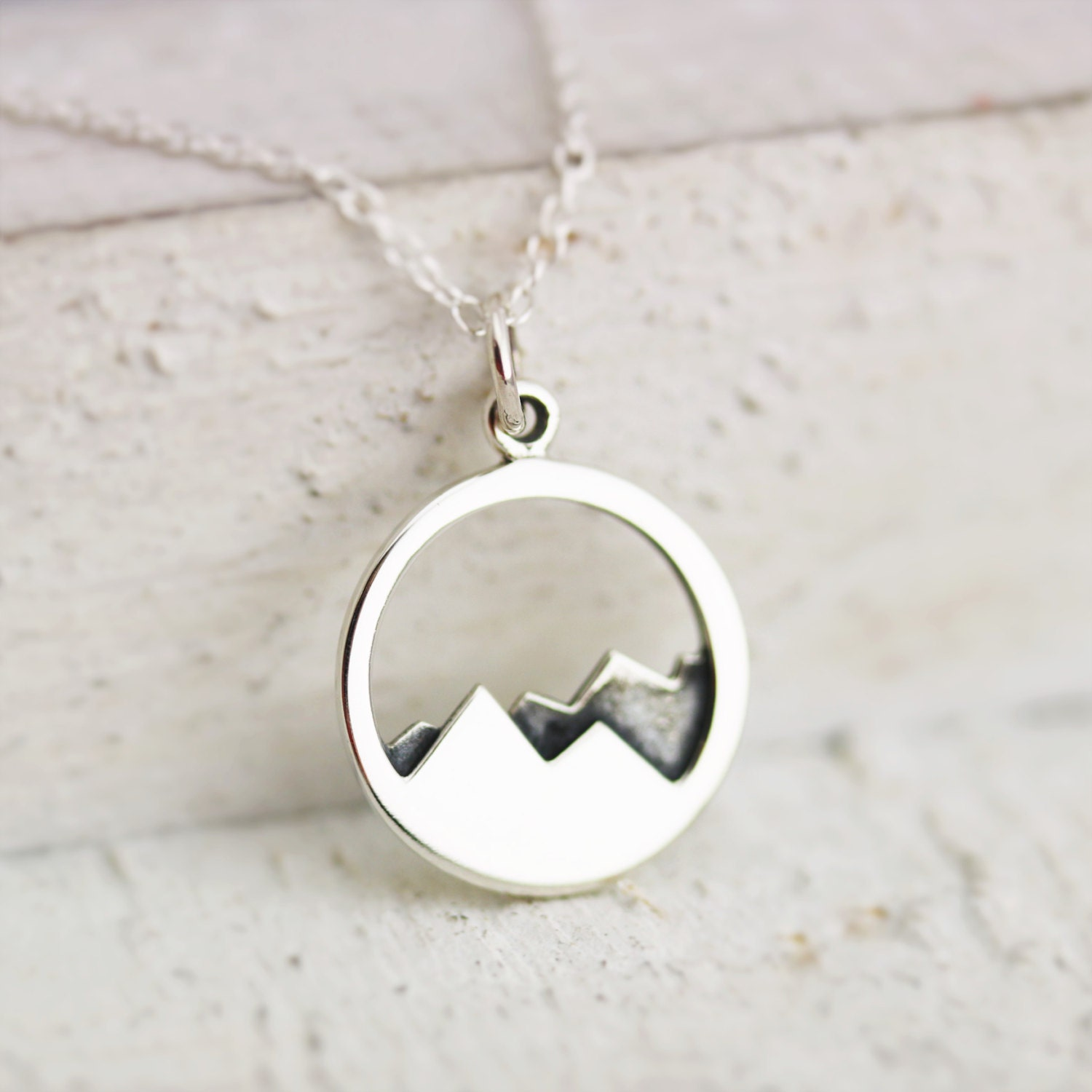 mountain necklace sterling silver mountain range necklace. Black Bedroom Furniture Sets. Home Design Ideas