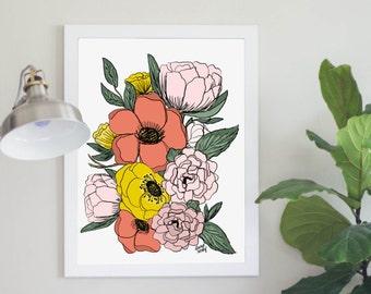 May Flowers Art Print Digital Download