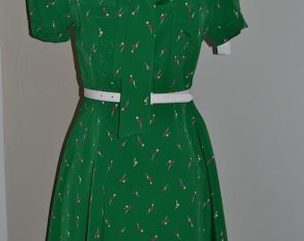 Green Print Dress NWT Size L
