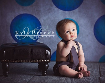 Aqua Blue Polka Dot Photography Backdrop (PKA-ER-001)