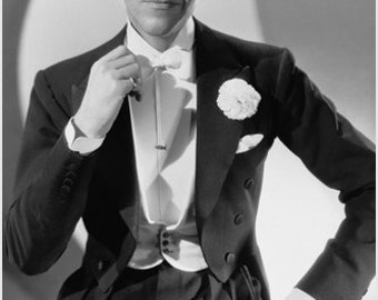 Fred Astaire Publicity Still Poster Charming Quizical Tuxedo 24x36