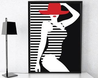 Fashion Print, Fashion Illustration, Fashion poster, Womens Fashion, Fashion Art, Wall Art, Wall Decor, Printable Art, Printable Poster, Art