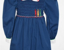 Vintage Polly Flinders Crayon Dress, Size 4T - Vintage Kids Clothes -Girls Vintage Dress - Polly Flinders Dress - Vintage Polly Flinders