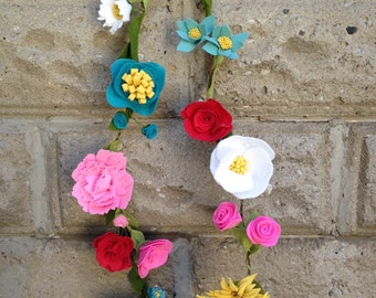 Custom Flower Garland // Felt Flower Garland // Wedding Garland // Event Flower Garland