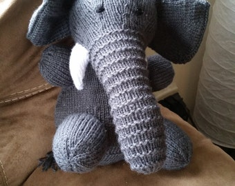 Knitted stuffed elephant