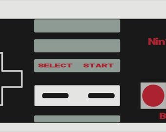 Nintendo NES Controller Print - INSTANT DOWNLOAD