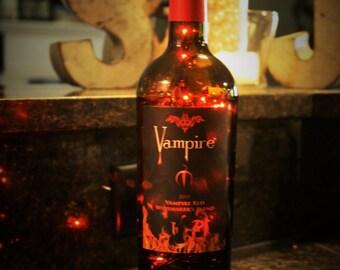 Vampire wine bottle light, Vampire wine bottle lamp, Vampire, vampire light, vampire lamp, wine bottle light, wine bottle lamp, bottle light