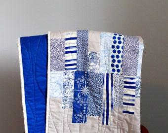 The Echo Quilt - Modern Baby Quilt - Handmade - Baby Boy Quilt - Baby Boy Blanket