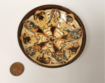 Vintage Hand Made Terracotta Bowl, Vanity / Trinket Bowl, Made in Bulgaria