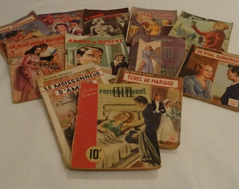 Vintage French Dime Store Novels, 1949-1954, Various Authors/Publishers/Genres