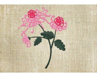 Machine embroidery flowers Japanese embroidery chrysanthemum