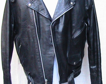 Size 46 MOTORCYLE Putnam Leather Gold Jacket Fully Quilted Lined