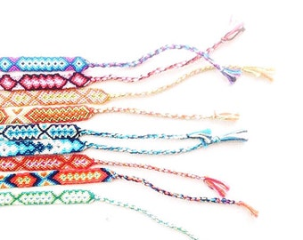 Threads of Hope Flat and Round Handmade Adjustable Woven Friendship Bracelets - Wrap Bracelets - Friendship Jewelry - Charity Gifts
