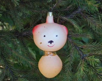 Woodland Decor vintage Christmas ornament Woodland fairy tale tree ornament Teddy Bear ornaments animal ornaments old Christmas decoration