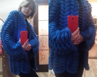 "cardigan ""chinchilla"" or Asian braid. handmade"