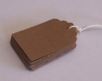 "GIFT TAGS blank 2 3/16"" 25pcs blank kraft 50 brown die cut/23sweets/blank/wedding/rustic/party/gift/hang tags/scrap booking/paper supplies"