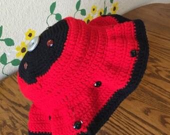 Handmade Ladybug Floppy Hat
