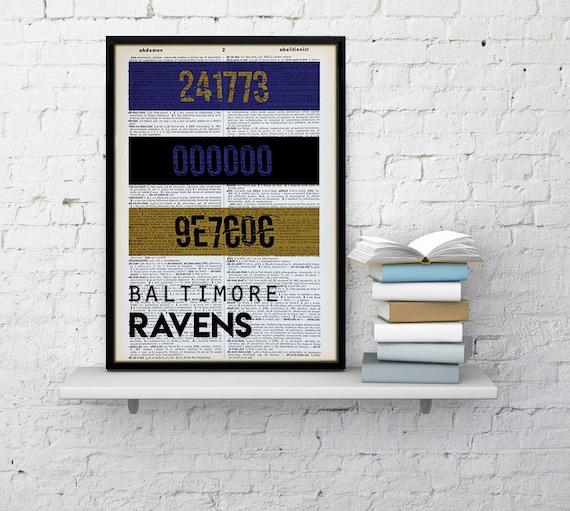 Baltimore Ravens Home Decor: Baltimore Ravens Print HEX Color Code Ravens By