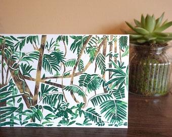 Rainforest Greetings Card A5