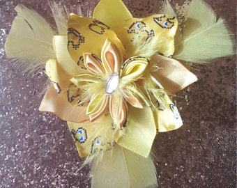 Chocobo Petal Hairbow