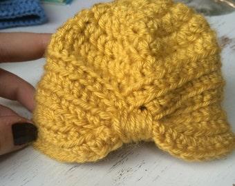 Hand Crocheted Newborn Hat