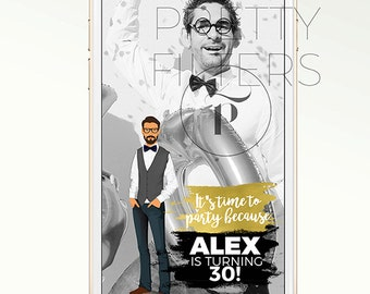 DIY Snapchat GeoFilter for Birthday Bucks  Bachelor Party | Personalised cartoon | We Customize for You | Perfect Gift