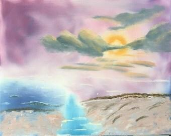 Oil on canvas 16x20: Beach Dunes