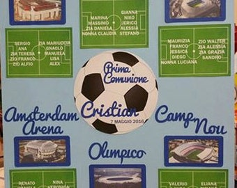 original Tableau stadiums in the world communion personalized wedding up to 7 tables + 7 table markers