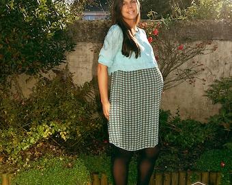 Maternity Dress - AMANDA Poppy Blue