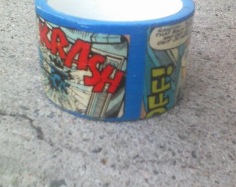 Blue Comic Art Cuff Bangle