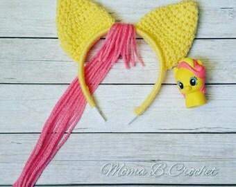 Crochet My Little Pony Headband Toddler/Child and Teen/Adult, My Little Pony Fluttershy Headband