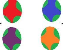 Ninja Turtle Egg Stress Balls And Juggling Balls