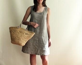Linen Shift Dress, Tank Dress, Linen Dress, Sleeveless Dress, Natural Dress, Summer Dress, Plus Size Sundress, Linen Dress Women Jumper