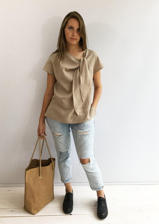 Light linen top elegant womens top linen blouse linen for Linen women s shirt
