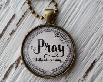 Necklace-Pray-Handmade