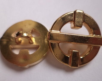 12 buttons gold 18mm (1476)