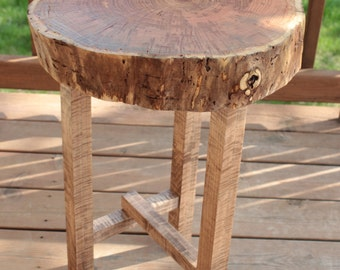 Live Edge Honey Locust End Table