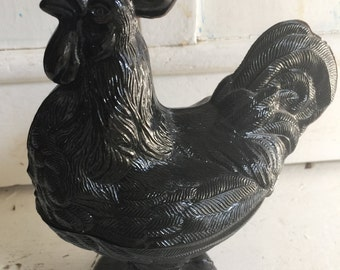 Antique Rare Rooster/Hen candy dish