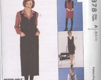 McCall's 7878 Misses Jumper in Two Lengths and Blouse (Sz 10,12,14) Cut
