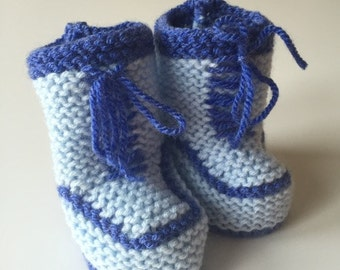 Hand Knitted Baby Trainers