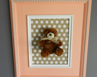 Frame Teddy bear, Teddy, bear, teddy bear. Wall decor room baby, child.