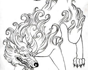 Snow Wolf - Artwork for Paizo Publishing