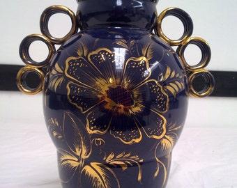Italian ceramic vase-Deruta-1950