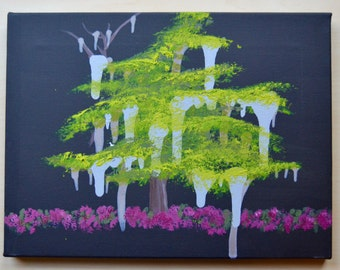 Live Oak Tree Painting for Children on Canvas