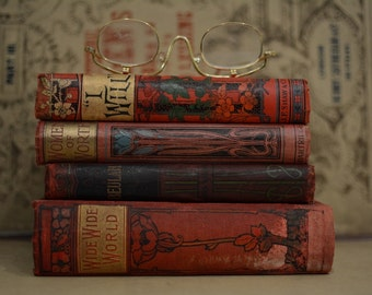 Vintage Red Books Collection - 1900's