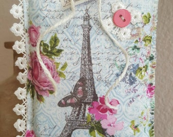 Shabby Chic Home Decor, Room Accent, Room Decor, Decoration, Wall Hanging, Paris Pillow