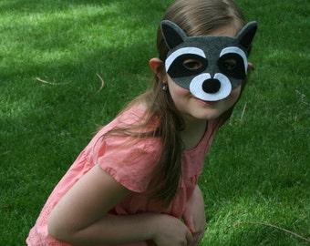 Children's Felt Raccoon Mask