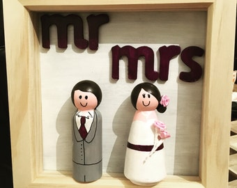 Mr & Mrs Peg People